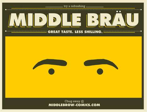 Middle Brau Packaging Stares Right Back at You