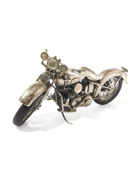 Metallic Antique Motorbikes
