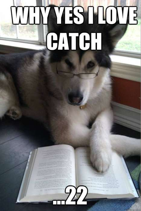 The Condescending Literary Pun Dog Will Become Your Favorite Meme
