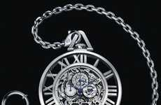Sumptuous Stripped Timepieces - The Cartier Grand Complication Skeleton Pocket Watch Ticks Stylishly