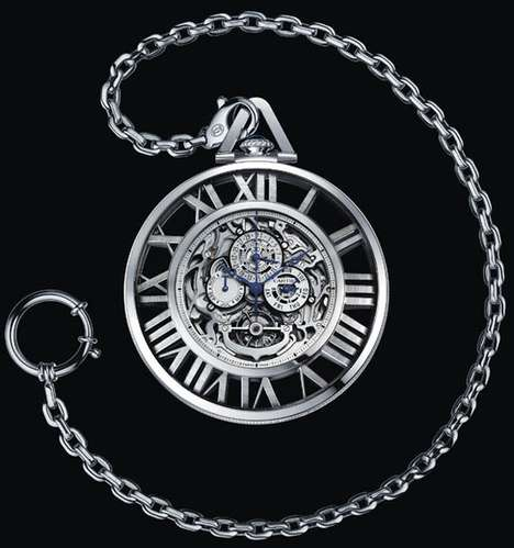 The Cartier Grand Complication Skeleton Pocket Watch Ticks Stylishly