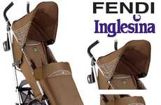 Luxurious Baby Chariots - The Fendi Inglesina Stroller is for Fashionista Parents and Their Tots