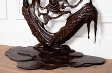 Melting Wooden Sculptures