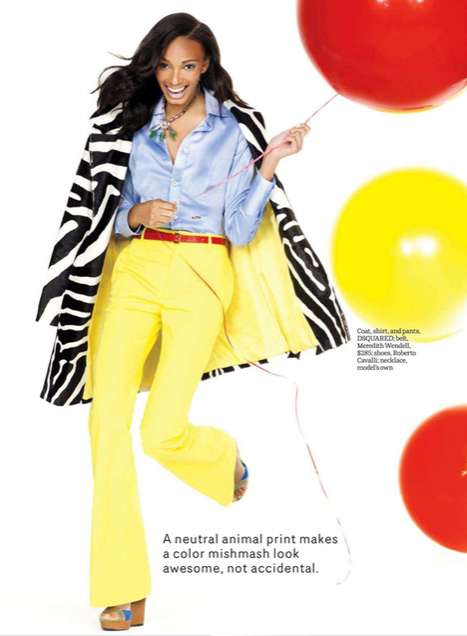 Candy-Colored Clashing Prints