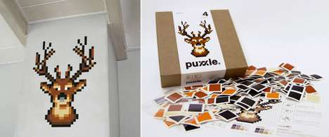 The Puxxle is Assembled Pixel by Pixel to Create Eye-Catching Wall Decals