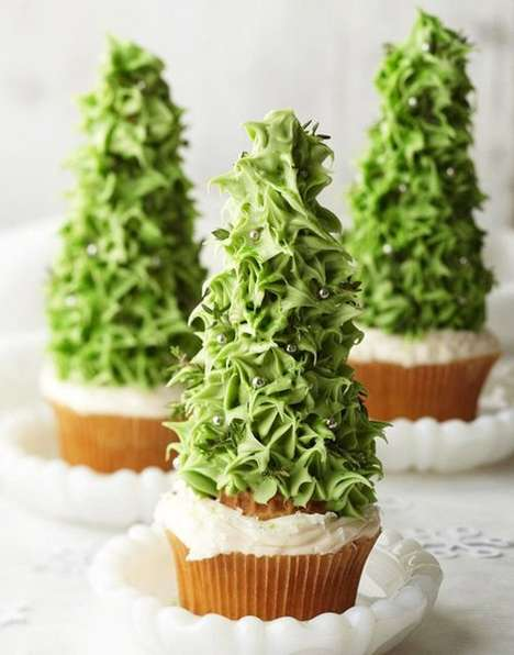 Festive Tree-Topped Cakes