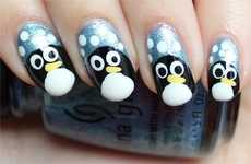 Adorable Antarctic Nail Designs