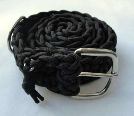Adventurous Rope Accessories - The 550 Paracord Survival Belt is Perfect for Emergencies