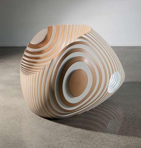 Contemporary Spiralling Seats