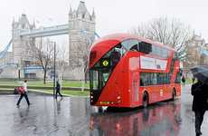 Futuristic Double-Deckers - Thomas Heatherwick's New Bus for London is a Fuel-Efficient Hybrid