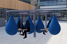 Liquid Study Spaces - The Droplet Outdoor Workspace Encourages Students to Get Outside