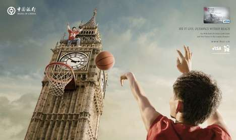 The Bank of China 2012 Olympics Campaign Features London's Big Ben