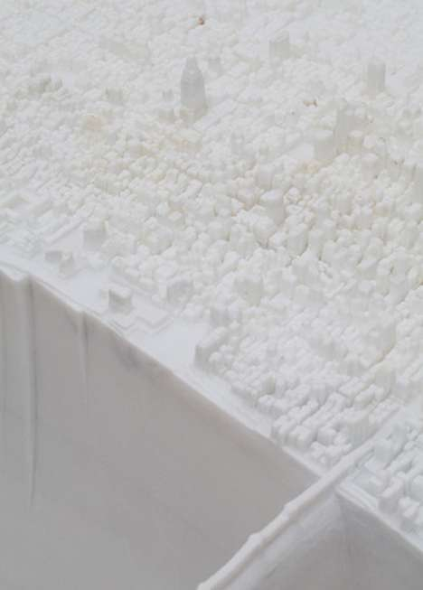 Snow-Covered Cityscapes - The Yutaka Sone Miniature Manhattan is Made Entirely of Marble