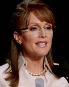 Uncanny Vice Prez Impersonations - Julianne Moore is Sarah Palin in HBO's Game Change