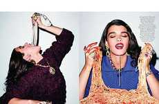 22 Chic Crystal Renn Captures - From Feasting Photography to Bottomless Monotone Fashion