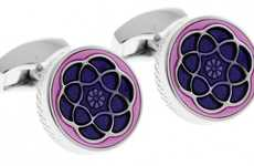 Stain Glass-Inspired Accessories - The Tateossian Jewelry 'Yerevan' Cufflinks are Glamorously Chic