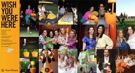 Global Connection Showcases - Veuve Clicquot 'Wish You Were Here' Campaign Shows Its World Presence