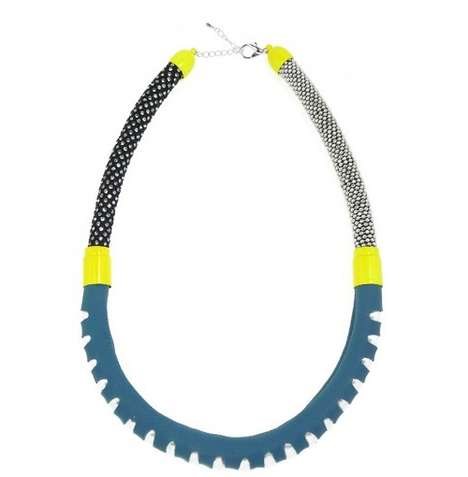Tactile Rope Accessories - The '1111 Necklace Collection' is Futuristic and Tribal