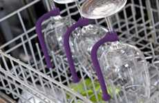Smart Stemware Stabilizers - The 'Quirky Tether' Allows Your Wine Glasses to be Dishwasher Durable