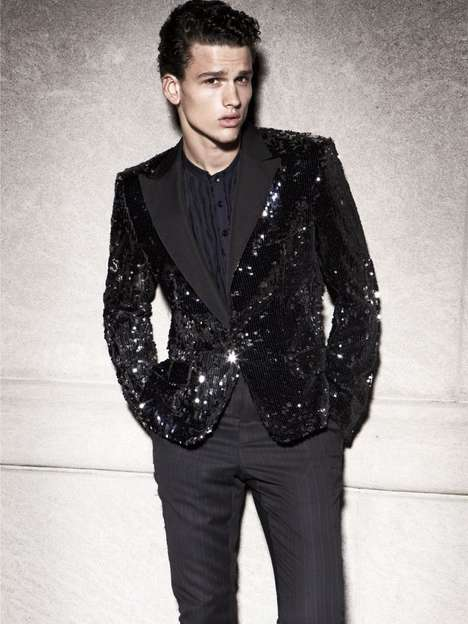 Sequined Suit Shoots