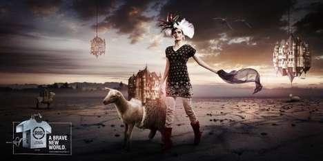 Surrealist Activewear Campaigns