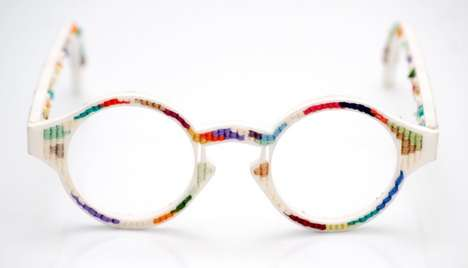 Multicolored 3D-Printed Eyewear - These Tapestry Glasses are Fun, Colorful and Customizable