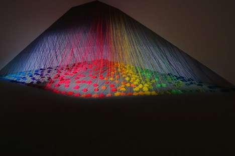 Wool Rainbow Installations