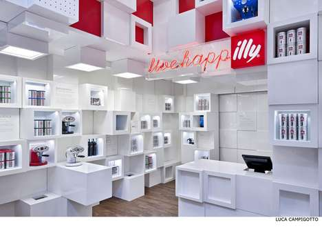 Modular Cubed Pop-Ups - Illy Temporary Shop by Caterina Tiazzoldi Can Be Adapted to Different Areas