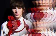 Crimson Double Images - The Luke Worrall for The Ones to Watch Editorial is Kaleidoscopic