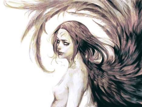 Winged Woman Depictions