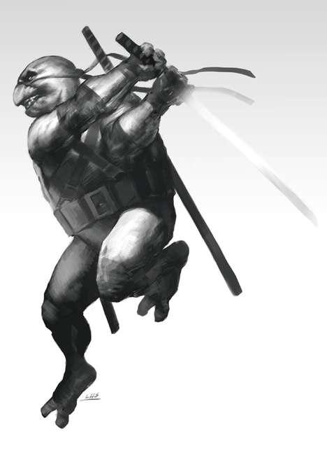 Deadly Mutant Tortoise Depictions