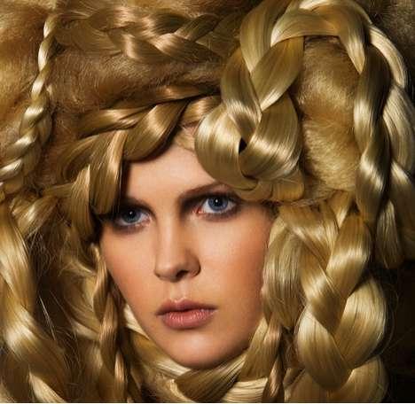 Bulky Blonde Braid Photography