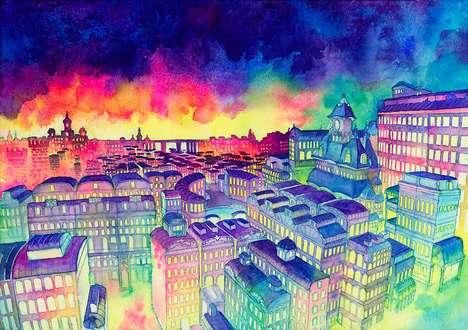Rainbow-Hued City Renderings