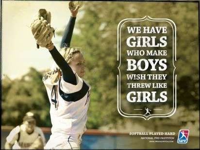 Female Fastpitch Ads