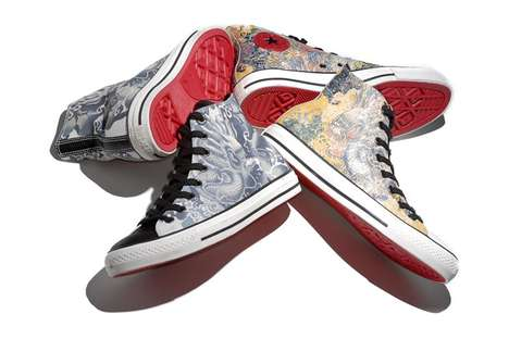 Chinese New Year High Tops - Converse Year of the Dragon Chuck Taylors Feature Fierce Eastern Design