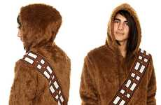 Sci-Fi Sidekick Sweaters - The Star Wars Chewbacca Furry Zip Hoodie Will Keep You Geeky and Warm