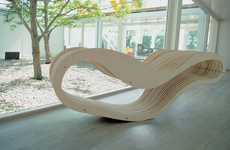Wavy Wooden Lounges - Aeroply by Karolina Ferenc is Designed to Fit a Woman's Curves