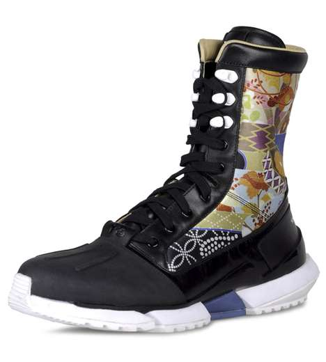 Japanese Floral Boots