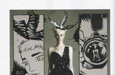 Illustrated Fete Fashion - The ELLE Brazil Party! Editorial Stars the Fun and Flirty Thairine Garcia