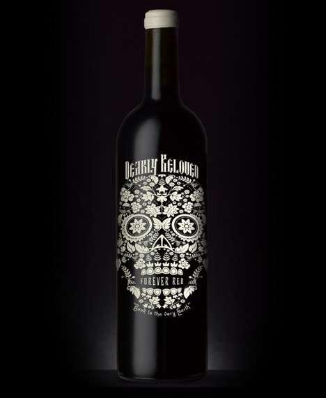 Blooming Skull Booze Packaging
