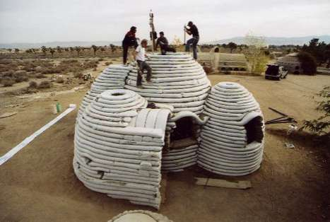 Cylindrical Sandbag Shelters - Nader Khalili's Temporary Earth Shelters are Cheap and Durable