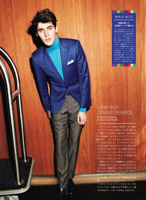 Technicolored Suit Shoots
