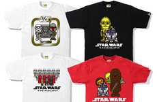 Sci-Fi Streetwear Hybrids - A Bathing Ape x Star Wars Delivers the Second Installment of Shirts