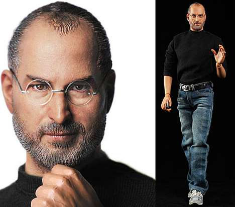 Technological Innovator Toys - The Steve Jobs Action Figure is a Life-Like Replica
