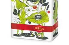 Embellished Botanical Branding - Paulig Coffee Packaging Expresses an Elaborate Aroma