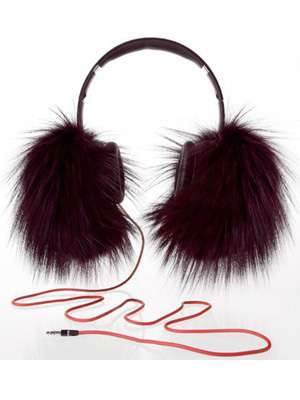 Lush Fur-Clad Headphones