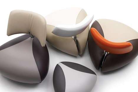 Triangle Leather Loungers