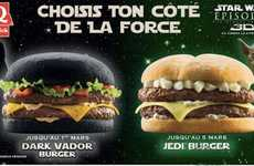 Black-Bunned Burgers - Burger King Releases the Dark Vader Burger in France