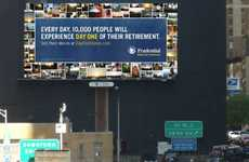 Retirement Photo Billboards - Prudential 'Day One' Project Collage is Displayed Over NYC Tunnel