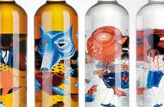 Sketched Bottle Branding - Michelberger Booze Enchants with Fairytale-Inspired Packaging